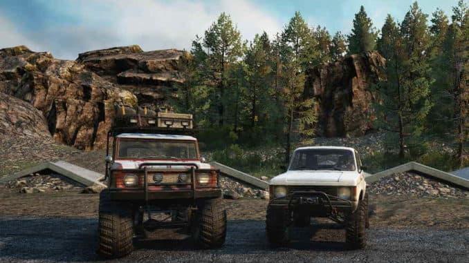 Две разведывательных машины из SnowRunner