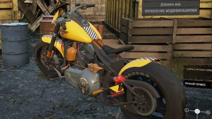 Harley Davidson Fat Boy SnowRunner вид сзади