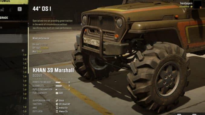 KHAN 39 Marshall с 44 колесами в SnowRunner